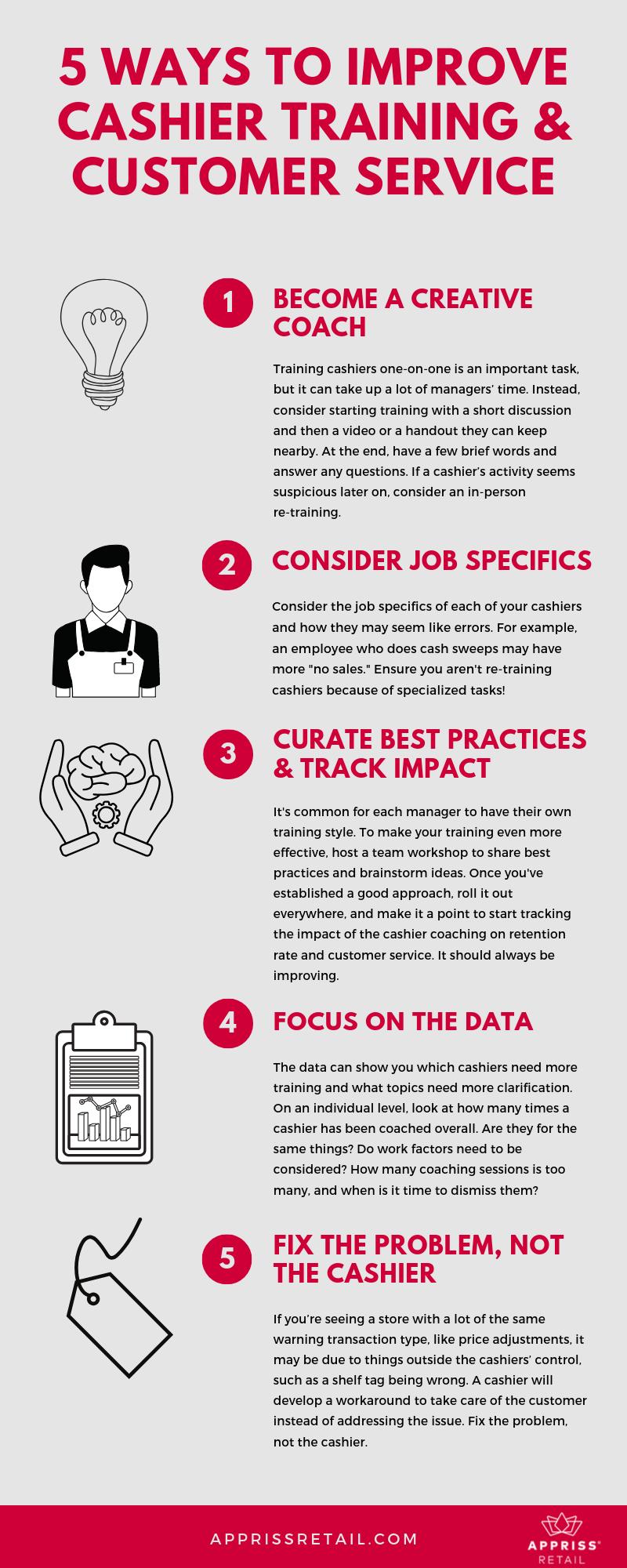 Infographic: 5 Ways to Improve Cashier Training & Customer Service
